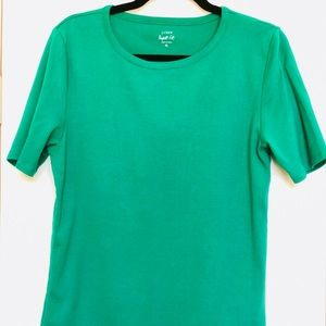 J. Crew The Perfect t-shirt Kelly Green XL